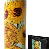 Van Gogh Sunflowers Ceramic Tealight Candleholder 5.75H - TC01GO