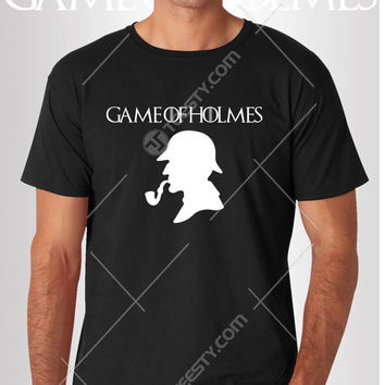 Game Of Holmes T-shirts T-shirt Tank Top Tank Tops Sweatshirt Sweatshirts Phone Cases Mugs American Apparel Game Of Thrones I M Sherlocked
