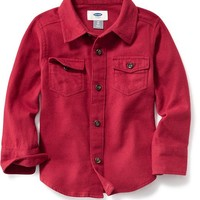 Old Navy Solid Flannel Shirt For Baby