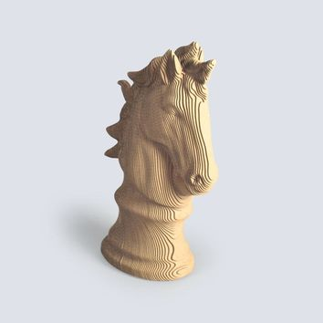 Chess Horse Fun 3D Puzzle DIY Corrugated Paper Model Kits