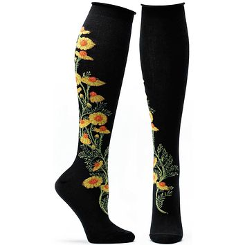 Chamomile Apothecary Florals Knee High Sock