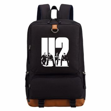 U2 Band Alternative Rock Bono Vox backpack Men women's boy School Bags travel Shoulder Bag Laptop Bags Casual