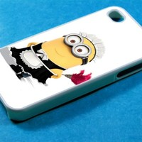 Minion on Despicable me 2 Design for iPhone 4/4S and iPhone 5 Case