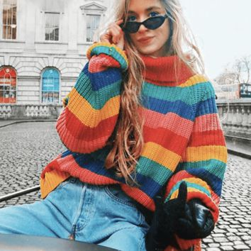Rainbow Turtleneck
