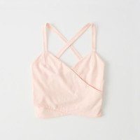 Womens Cropped Wrap Tank | Womens Tops | Abercrombie.com