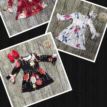 Fall Floral Dress Collection*Preorder- 0503*Closes: September 14th at 8pm