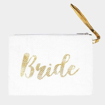 Bride Metallic Clutch