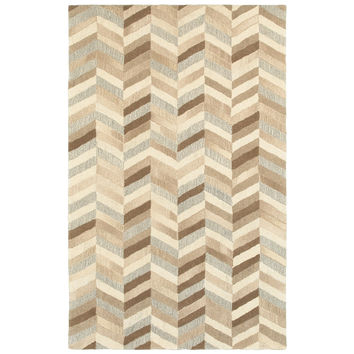 Oriental Weavers Infused 67005 Beige/ Grey Geometric Area Rug