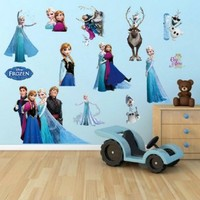Buy Home Beautiful Elsa From Frozen Family Removable Wall Decor Elsa Decals Decorations (ZY1431)