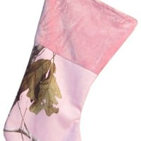 Realtree AP Pink christmas stocking