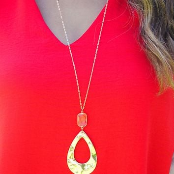 Running Back Necklace: Gold
