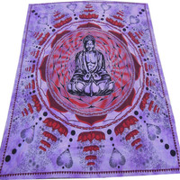 Indian Buddha Hippie Hippy Wall Hanging Tapestry Throw Bedspread Bed Decor Sheet Ethnic Decorative Art