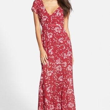 Women's MINKPINK 'Pretty Poppies' Floral Print Maxi Dress,