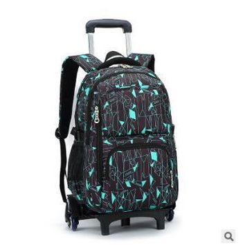 Boys Backpack Bag Rolling  Bags For Teenagers Children Trolley School Bag Kids Wheeled s Children Travel luggage bags On wheels AT_61_4