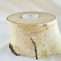 Tea Light Candle Holder, Birch Wood Candle Holder, Single Candle Holder
