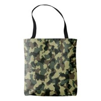 Woodland Camouflage Tote Bag