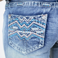 GRACE in LA Chevron Aztec Jeans