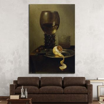 Wine glass and lemon №3437