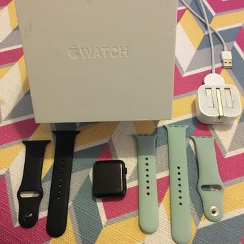 Apple Watch Series 1 42mm Space Grey Aluminium Case With 2 straps -...