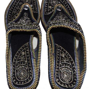 DCCK7BE Rajasthani-Embroidered-Heel-Wedges-Ethnic-Fashion-Woman-Sandal-Slipper 10