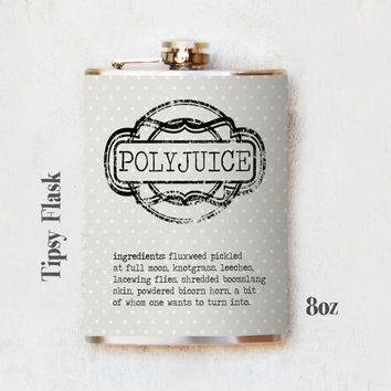 Polyjuice Flask - Harry Potter Inspired Flask - Polyjuice - 8oz or 6oz Flask - Tipsy Flask (212)