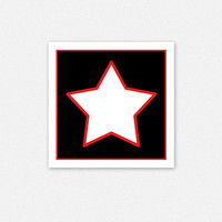Black White Red Star for Newborns