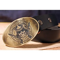 Cowboy WILD WEST Belt Buckle