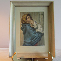 Mother and Child Framed Print, The Madonnina Framed Print, Madonna and Child, Mother and Child Print, laslovelies