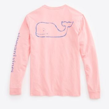 03ea100ff4 Long-Sleeve Vintage Whale Graphic Pocket from vineyard vines