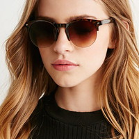 Tortoiseshell Brow Bar Sunglasses