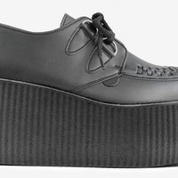 Underground Shop | Triple Sole Wulfrun Creepers Black Non-Leather Vegan | Shoes,Creepers,Underground,England