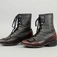 LAREDO Two-Tone Leather Boots US 6
