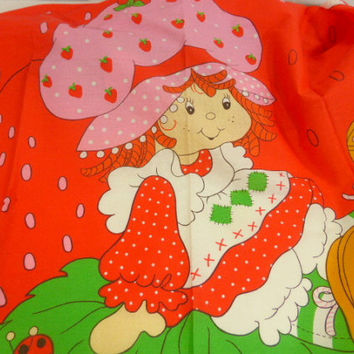 Vintage Strawberry Shortcake Wall Hanging Spring Mills Inc. 1981 American Greeting Pattern 5721 Unquilted Panel 4736 Fabric Panel