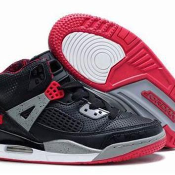 New Nike Air Jordan 3.5 Spizike Kids Shoes Black Red From China