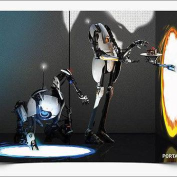 "Portal 2 Atlas and P-body Poster Picture Art Print Official Licensed 18"" x 24"""