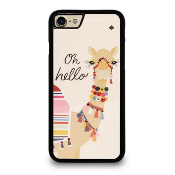 KATE SPADE CAMEL OH HELLO iPhone 4/4S 5/5S/SE 5C 6/6S 7 8 Plus X Case
