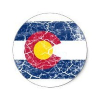 Colorado State Flag Vintage Round Stickers