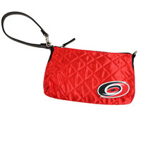 Carolina Hurricanes NHL Quilted Wristlet (Light Red)