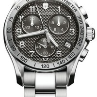 Victorinox Swiss Army Men's 241405 Chrono Classic PVD Coated Grey Dial Watch