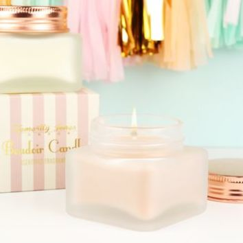 Boudoir Frosted Scented Candle