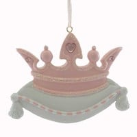 Personalized Ornaments Princess Crown Pink Personalized Ornament