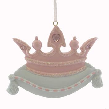 Personalized Ornaments PRINCESS CROWN PINK Resin Free Queen Girl RM222