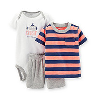 Carter's Newborn-24 Months Cruisin' With Daddy 3-Piece Short Set - Bro