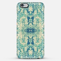 Vintage Blue Turquoise Damask Pattern Background iPhone 6 Plus case by Girly Road | Casetify