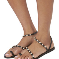 Apli Eleftheria Pearl Detail Sandals