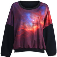 ROMWE | Mysterious Universe Print Top, The Latest Street Fashion