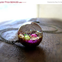 ON SALE Purple Glittered Treasure Orb Necklace by CuteAbility