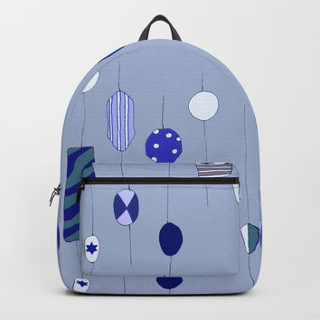 Big blue sweetie beads Backpack by carmenrayanderson