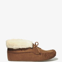 Faux Fur Trim Moccasins