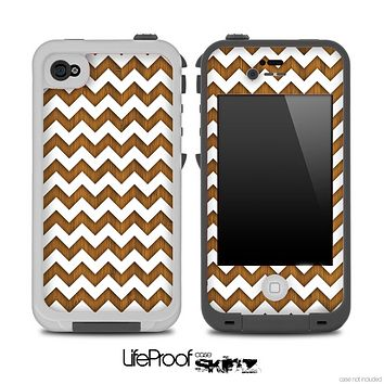 Chevron Pattern with Bamboo Skin for the iPhone 5 or 4/4s LifeProof Case